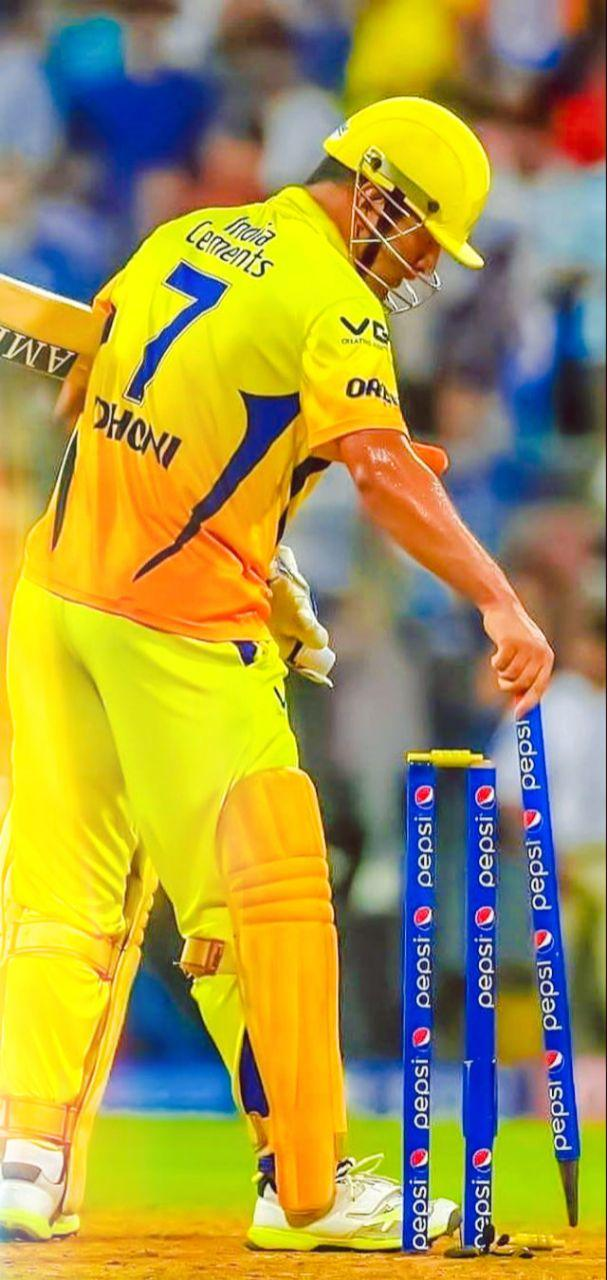 Ms Dhoni Csk Team Hd Photo Download